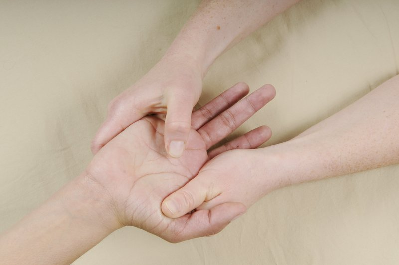 Hardworking hands benefit from slow, deliberate massage from an experienced therapist